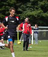 Dundee manager Paul Hartley watches  Dundee FC pre-season training at Dundee University Grounds, Riverside<br /> <br />  - &copy; David Young - www.davidyoungphoto.co.uk - email: davidyoungphoto@gmail.com