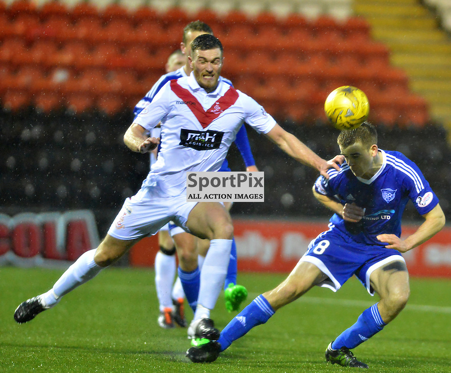 Jamie Redman of Peterhead in action against Airdrie....(c) BILLY WHITE | SportPix.org.uk