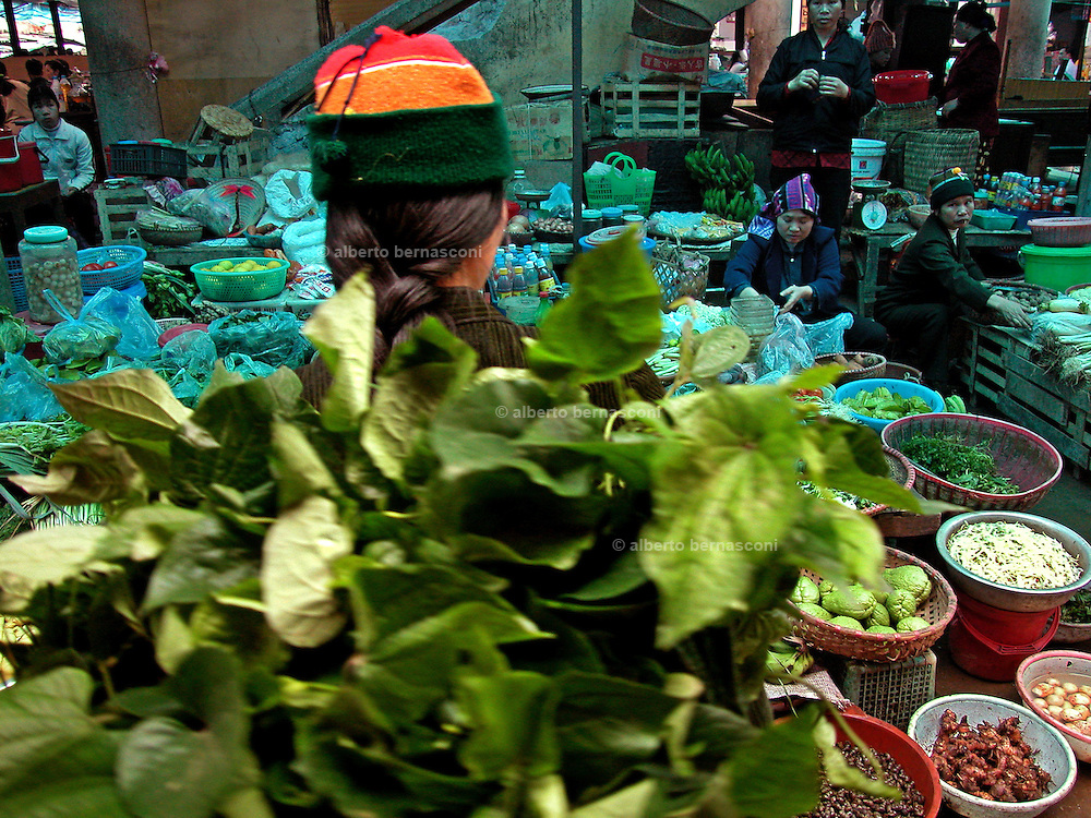 Vietnam, Sapa: at the market.