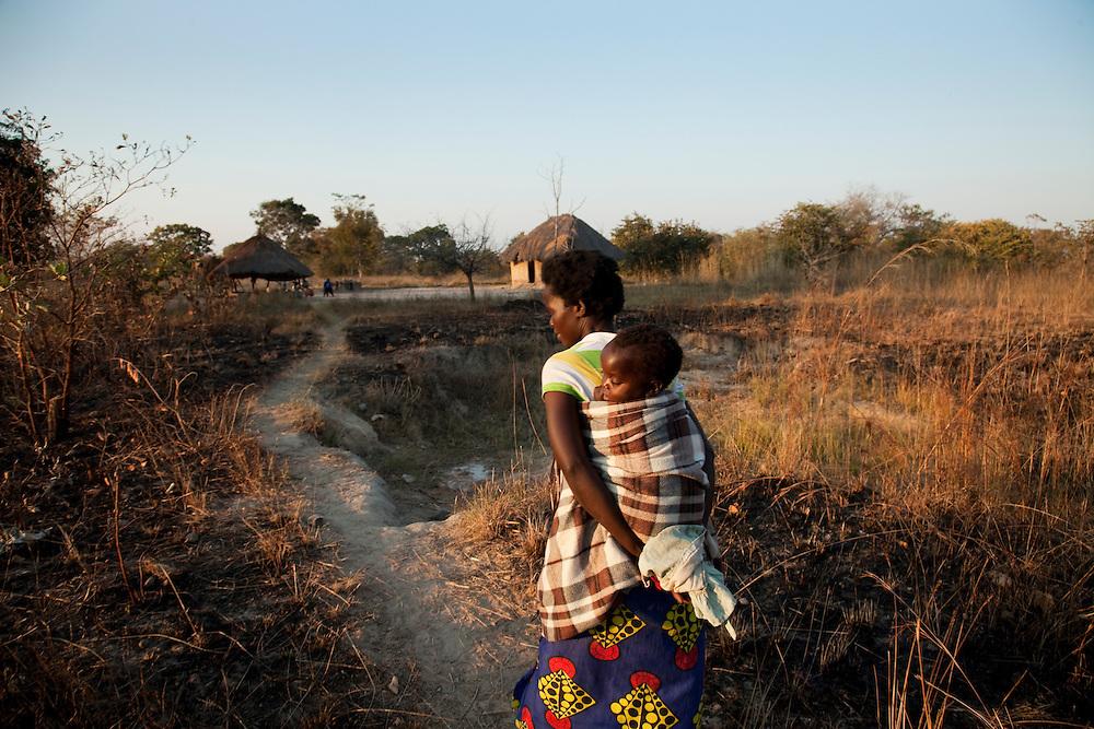 Beauty Chiimbwe and his family. Kayola village, Hamavwa ward, Zambia.