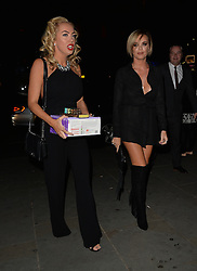 Aisleyne Horgan-Wallace, Nicola McLean and Maria Fowler enjoy a night out STK restaurant in London, UK. 19/09/2015 <br />