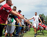 Jul. 28, 2012; Flagstaff, AZ, USA; Arizona Cardinals quarterback Kevin Kolb (4) walks to the field prior to training camp practice on the campus of Northern Arizona University.  Mandatory Credit: Jennifer Stewart-US PRESSWIRE.