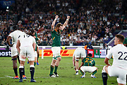 RG Snyman of South Africa celebrates at the end of the World Cup Japan 2019, Final rugby union match between England and South Africa on November 2, 2019 at International Stadium Yokohama in Yokohama, Japan - Photo Yuya Nagase / Photo Kishimoto / ProSportsImages / DPPI
