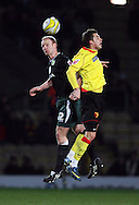 London - Wednesday, December 12th, 2008: John Eutace of Watford and Gary Doherty of Norwich City during the Coca Cola Championship match at Vicarage Road, London. (Pic by Chris Ratcliffe/Focus Images)