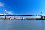 Hell Gate and Robert F. Kennedy (RFK) Bridge,  New York City, Connecting QUeens and Manhattan, New York City, New York, USA