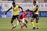 (L-R) Gyliano van Velzen of Roda JC, Guus Til of AZ Alkmaar, Tsiy William Ndenge of Roda JC