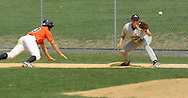 Middletown, NY - Jeff Curtis of SUNY Orange heads back to first base during a Region XV baseball game against Dutchess Community College on April 26, 2008.