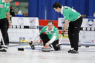 Rich Hart, third, lead The 2011 GP Car and Home Players' Championship ran April 12-17 at the Crystal Centre, Grande Prairie, AB..11-04-13, Photo Randy Vanderveen, Grande Prairie, Alberta.