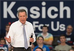 April 25 2016: Republican Presidential Candiate John Kasich speaks at a Town Hall Rally at Montour High School in McKees Rocks, Pennsylvania (Photo by Justin Berl)