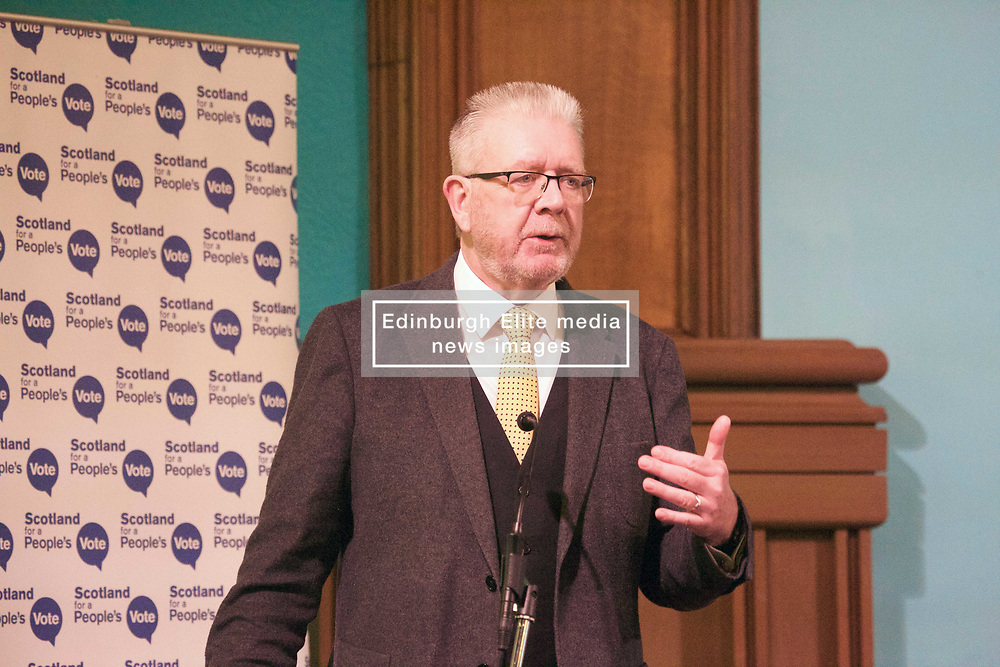 Scottsh Brexit Secretary Michael Russell at an anti-Brexit rally at Augustine United Church, Edinburgh. pic copyright Terry Murden @edinburghelitemedia