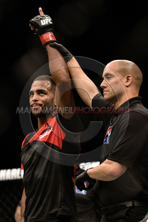 "GLASGOW, UNITED KINGDOM, JULY 16, 2017: Danny Roberts during ""UFC Fight Night Glasgow: Nelson vs. Ponzinibbio"" inside the SSE Hydro Arena in Glasgow, Scotland on Sunday, July 16, 2017."