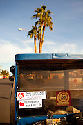 A golf cart parked in Sun City, Arizona shows pride, seen January 9, 2010.