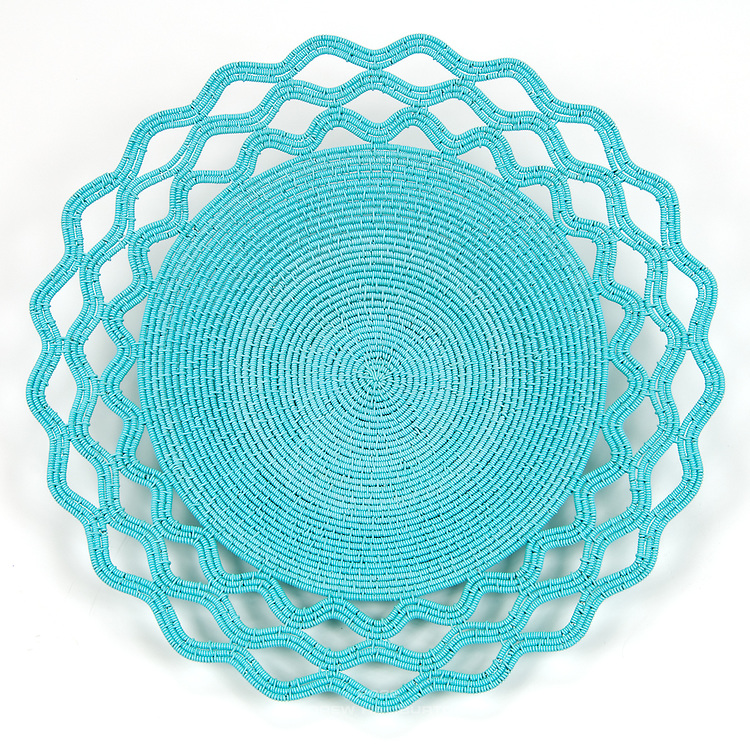 Lace platter; Baby Blue
