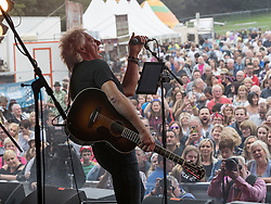 Big Country performing at Party At The Palace Music Festival in Linlithgow Palace grounds on Sunday 14th August 2016.<br /> <br /> Bruce Watson - guitar, mandolin, sitar, vocals <br /> <br /> Mark Brzezicki - drums<br /> <br /> Jamie Watson - guitars <br /> <br /> Simon Hough - vocals, guitar, harmonica <br /> <br /> Scott Whitley - Bassist <br /> <br /> <br /> Alan Rennie/ EEm