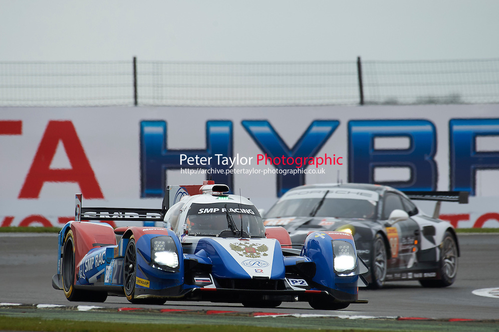 Nicolas Minassian (FRA) / Maurizio Mediani (ITA) / David Markozov (RUS) #27 SMP Racing BR Engineering BR01 Nissan,  at Silverstone, Towcester, Northamptonshire, United Kingdom. April 15 2016. World Copyright Peter Taylor.