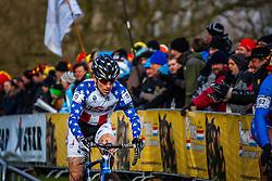Allen KRUGHOFF (19,USA) 1st lap at Men UCI CX World Championships - Hoogerheide, The Netherlands - 2nd February 2014 - Photo by Pim Nijland / Peloton Photos