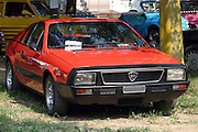 Red Lancia Monte Carlo Turbo