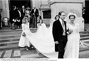 Marriage of Peregrine Armstrong-Jones to Caroline Bloy. Brompton Oratory. 29/10/87 Film 87908f28<br />