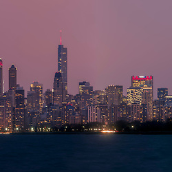 Chicago Skyline Panorama from Montrose Beach