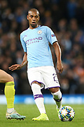Manchester City midfielder Fernandinho (25) during the Champions League match between Manchester City and Dinamo Zagreb at the Etihad Stadium, Manchester, England on 1 October 2019.