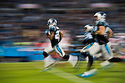 January 3, 2016: Carolina Panthers vs Tampa Bay Buccaneers. Panthers players run downfield