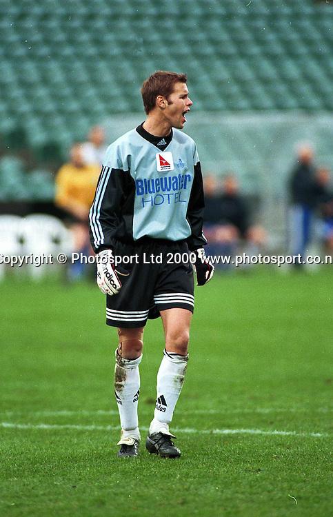 Mark Paston, Napier Goalkeeper - Napier City Rovers v University-Mt Wellington at North Harbour Stadium, 3 September 2000. Qantas National Club Championships. Photo: Sandra Teddy/Photosport.co.nz