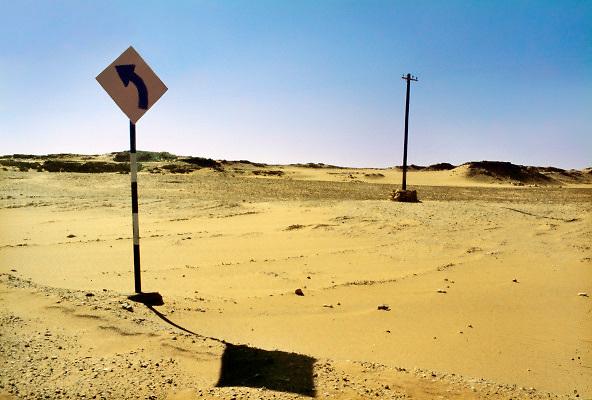 Egypte, Woestijn 1990Landschap. Sahara, Woestijn.Foto: Flip Franssen