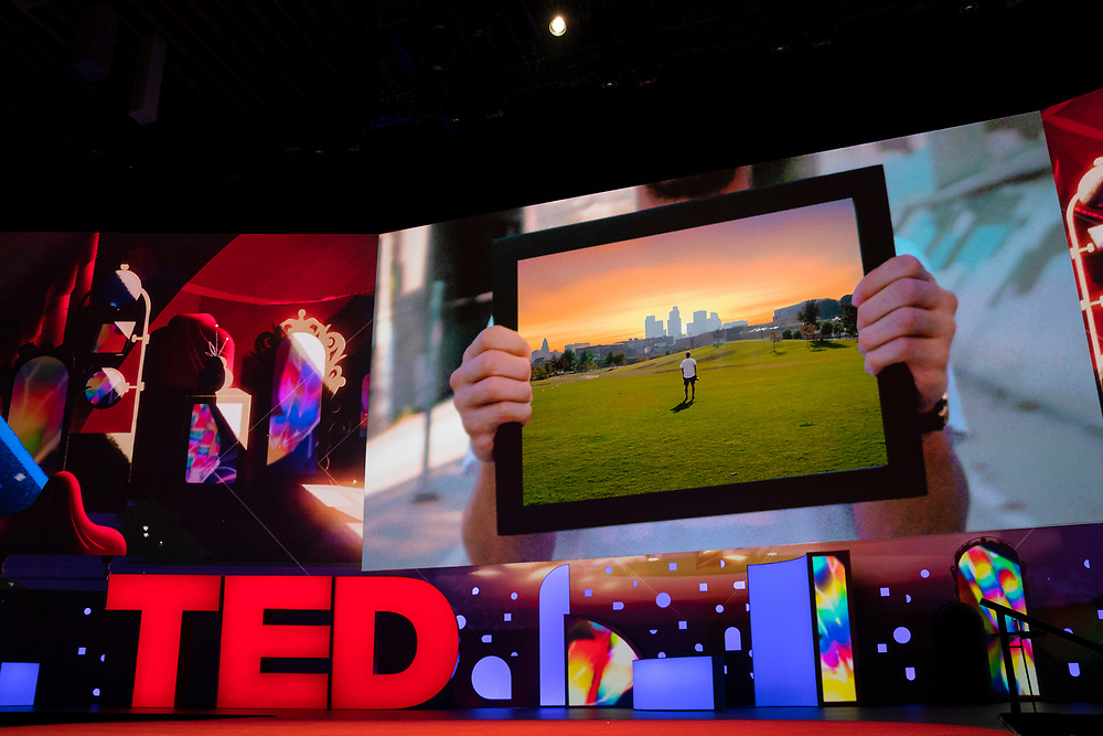 Ari Fararooy video at TED2019: Bigger Than Us. April 15 - 19, 2019, Vancouver, BC, Canada. Photo: Bret Hartman / TED