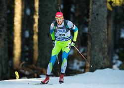 FAK Jakov (SLO) competes during Men 10 km Sprint at day 2 of IBU Biathlon World Cup 2014/2015 Pokljuka, on December 19, 2014 in Rudno polje, Pokljuka, Slovenia. Photo by Vid Ponikvar / Sportida