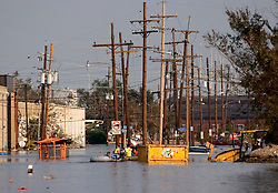05 Sept  2005. New Orleans, Louisiana. Post hurricane Katrina.<br /> On patrol in Uptown New Orleans off Napolean Ave following the devastating floods.<br /> Photo; ©Charlie Varley/varleypix.com