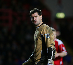 London, England - Saturday, January 13, 2007: Charlton Athletic's goalkeeper Scott Carson against Middlesbrough during the Premiership match at the Valley. (Pic by Chris Ratcliffe/Propaganda)