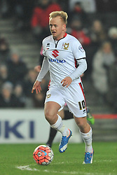 BEN REEVES MK DONS, MK Dons v Northampton Town, FA Cup Emirates FA Cup Third round Repay, Stadium MK, Tuesday 19th January 2016