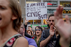 October 6, 2018 - New York, New York, United States - Hundreds of new Yorkers took to the streets on October 6, 2018 after the Senate voted on Brett Kavanaugh's confirmation to the Supreme Court, to express rage and refusal to consent to the US Senate appointee to the Supreme Court. (Credit Image: © Erik Mcgregor/Pacific Press via ZUMA Wire)