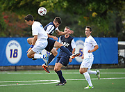 Mens soccer vs. Univ. of New Hampshire on Saturday, Sept. 28, 2013, in Hempstead, N.Y. Photo by Kathy Kmonicek