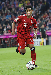 06.04.2019, Allianz Arena, Muenchen, GER, 1. FBL, FC Bayern Muenchen vs Borussia Dortmund, 28. Runde, im Bild Serge Gnabry // during the German Bundesliga 28th round match between FC Bayern Muenchen and Borussia Dortmund at the Allianz Arena in Muenchen, Germany on 2019/04/06. EXPA Pictures © 2019, PhotoCredit: EXPA/ SM<br /> <br /> *****ATTENTION - OUT of GER*****