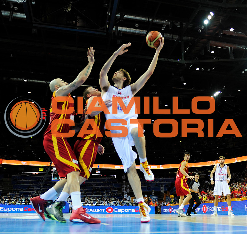 DESCRIZIONE : Kaunas Lithuania Lituania Eurobasket Men 2011 Semifinali Semi Final Round Spagna Macedonia Spain F.Y.R. of Macedonia<br /> GIOCATORE : Pau Gasol<br /> SQUADRA : Spagna Spain<br /> EVENTO : Eurobasket Men 2011<br /> GARA : Spagna Macedonia Spain F.Y.R. of Macedonia<br /> DATA : 16/09/2011 <br /> CATEGORIA : tiro shot<br /> SPORT : Pallacanestro <br /> AUTORE : Agenzia Ciamillo-Castoria/JF.Molliere<br /> Galleria : Eurobasket Men 2011 <br /> Fotonotizia : Kaunas Lithuania Lituania Eurobasket Men 2011 Semifinali Semi Final Round Spagna Macedonia Spain F.Y.R. of Macedonia<br /> Predefinita :