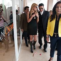 METEPEC, Mexico.- La presidenta municipal Carolina Monroy del Mazo y los actores Blanca Soto y Fernando Colunga durante la inauguracion del taller de arte dramatico Juan Osorio. Agencia MVT / Mario Vazquez de la Torre.