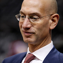 Jun 16, 2013; San Antonio, TX, USA; NBA deputy commissioner Adam Silver attends game five in the 2013 NBA Finals between the Miami Heat and the San Antonio Spurs at the AT&T Center. Mandatory Credit: Derick E. Hingle-USA TODAY Sports