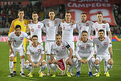 November 20, 2018 - Guimaraes, Portugal - The Polish national football team poses for a photo during the UEFA Nations League A Group 3 match between Portugal and Poland at Estadio D. Afonso Henriques in Guimaraes, Portugal on November 20, 2018  (Credit Image: © Andrew Surma/NurPhoto via ZUMA Press)