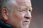 Chris Wilder of during the Premier League match between Sheffield United and Crystal Palace at Bramall Lane, Sheffield, England on 18 August 2019.