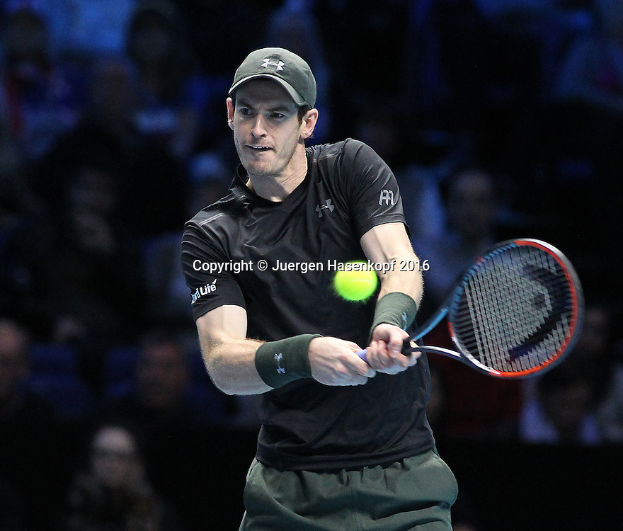 ANDY MURRAY (GBR), ATP World Tour Finals, O2 Arena, London, England.<br /> <br /> Tennis - ATP World Tour Finals 2016 - ATP -  O2 Arena - London -  - Great Britain  - 19 November 2016. <br /> &copy; Juergen Hasenkopf/Grieves