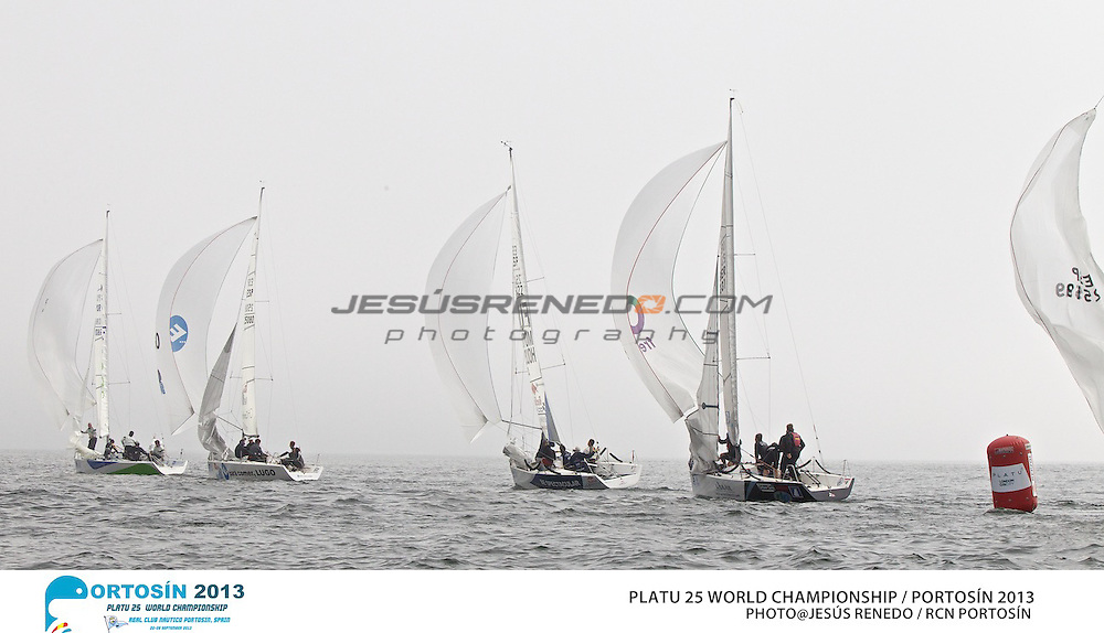 Platu 25 World Championships, Portosín , Galicia, Spain. 24-29 September 2013 . Day 1©