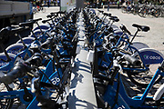 City bikes citizens can rent for shorter bike trips in the city