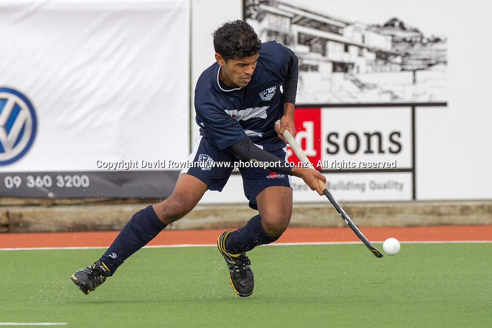 Auckland`s Jared Panchia  in action in the Auckland v Midlands Men`s Final match, Ford National Hockey League, North Harbour Hockey Stadium, Auckland, New Zealand,Sunday, September 14, 2014. Photo: David Rowland/Photosport