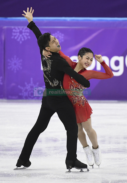 PYEONGCHANG, Feb. 15, 2018  Sui Wenjing (R) and Han Cong of China compete during the pair skating free skating of figure skating at the 2018 PyeongChang Winter Olympic Games, in Gangneung Ice Arena, South Korea, on Feb. 15, 2018. Sui Wenjing and Han Cong won the silver medal in the pair skating event with 235.47 points in total. (Credit Image: © Ju Huanzong/Xinhua via ZUMA Wire)