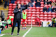 Barnsley manager Daniel Stendel during the EFL Sky Bet League 1 match between Walsall and Barnsley at the Banks's Stadium, Walsall, England on 23 March 2019.