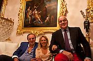 = Julia Lakchin and her father a bilionaire , and art seller, in their flat in  Monaco  Monaco   /// Julia Lakchin et son pere millardaire russe marchand de tableaux dans leur appartement  Monaco  Monaco  /// L0055503