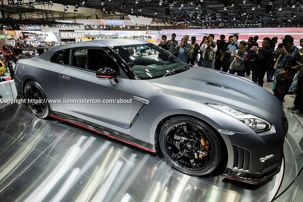 Nissan GT-R Nismo high performance car at Tokyo Motor Show 2013 in Japan