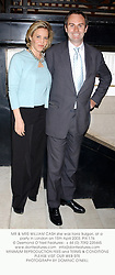 MR & MRS WILLIAM CASH she was Ilaria Bulgari, at a party in London on 15th April 2003. 	PIX 176