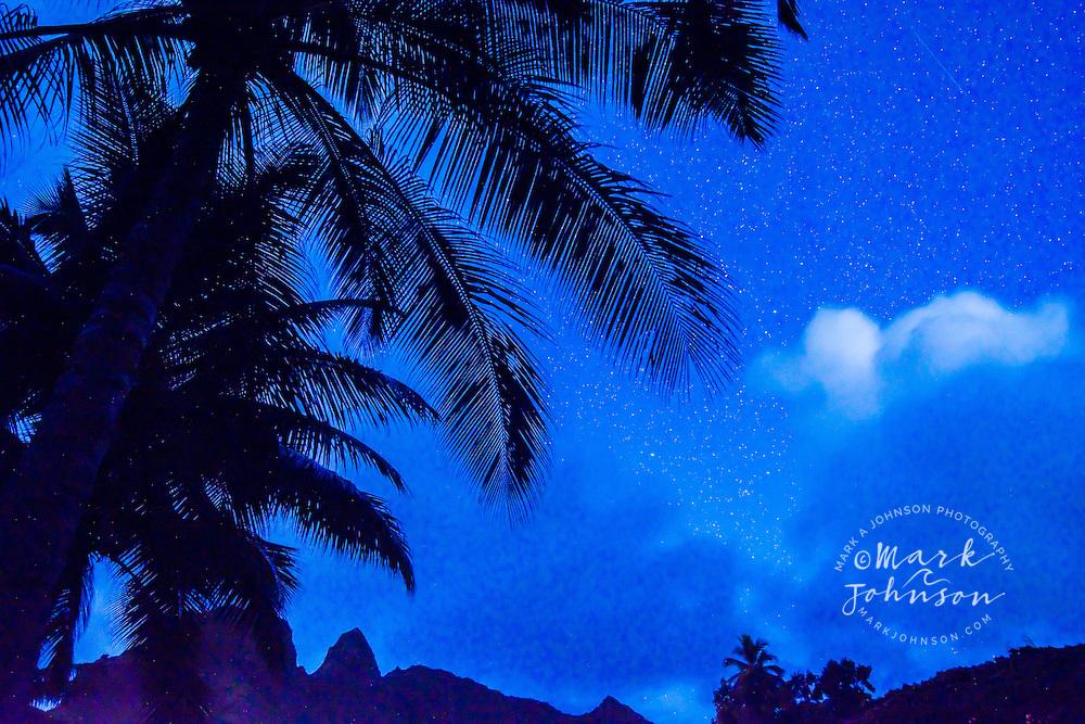 Kalalea Mountains at night, Kauai, Hawaii, USA
